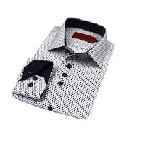 Elie Balleh Boys' 2015 Style Polyester and Rayon Slim Fit Collared Dress Shirt