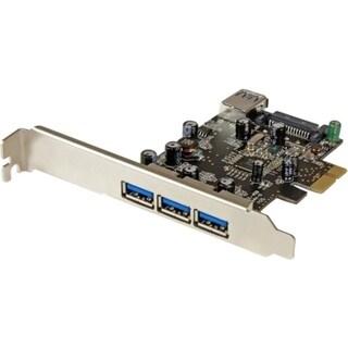 StarTech.com 4 Port PCI Express USB 3.0 Card - 3 External and 1 Inter