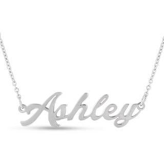 Silver Overlay 'Ashley' Nameplate Necklace