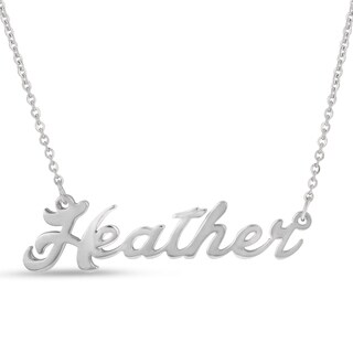 Silver Overlay 'Heather' Nameplate Necklace