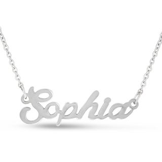 Silver Overlay 'Sophia' Nameplate Necklace