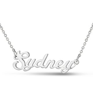 Silver Overlay 'Sydney' Nameplate Necklace