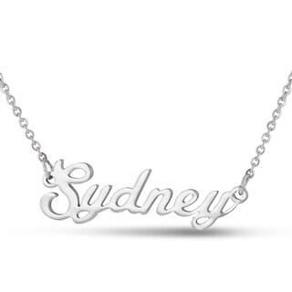 Silver Over Brass 'Sydney' Nameplate Necklace