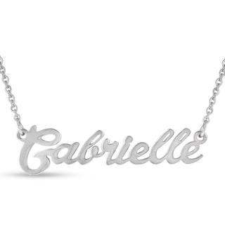 Silver Overlay 'Gabrielle' Nameplate Necklace