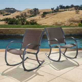 Gracie's Outdoor Wicker Rocking Chair (Set of 2) by Christopher Knight Home|https://ak1.ostkcdn.com/images/products/10104601/P17245195.jpg?impolicy=medium