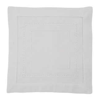Linen Blend Hemstitched Dinner Napkins (Set of 4)