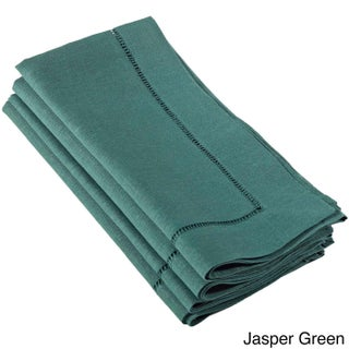 Hemstitched Dinner Napkin (Set of 4) Multiple Colors (More options available)