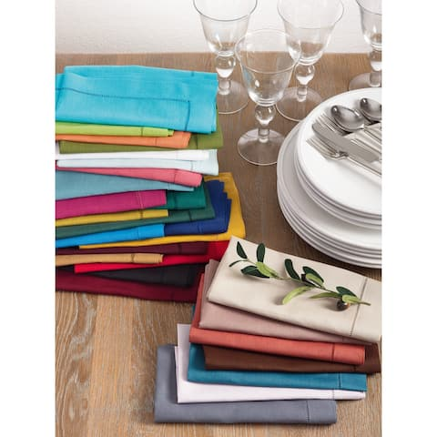 Hemstitched Dinner Napkins (Set of 4)