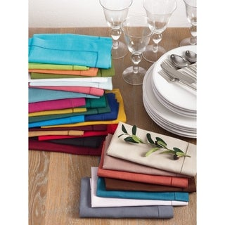Hemstitched Dinner Napkin (Set of 4) Multiple Colors