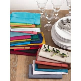 Hemstitched Dinner Napkin (Set of 4) Multiple Colors|https://ak1.ostkcdn.com/images/products/10104615/P17245209.jpg?impolicy=medium