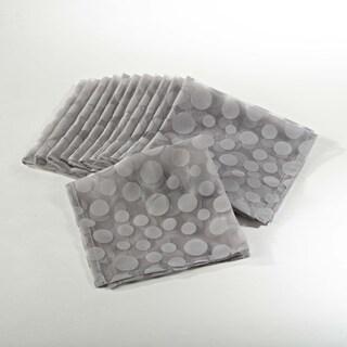 Flocked Dot Design Organza Napkin - set of 12