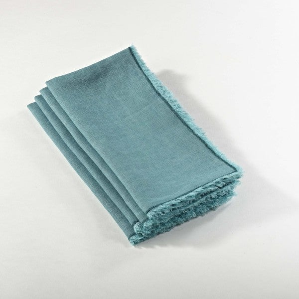 Stone Washed Linen Table Napkins (Set of 4)