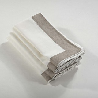 Two-Tone Napkin with Knotted Border