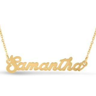 18k Goldplated 'Samantha' Nameplate Necklace