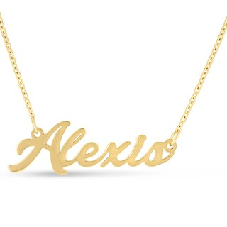 18k Goldplated 'Alexis' Nameplate Necklace