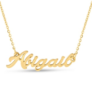18k Goldplated 'Abigail' Nameplate Necklace