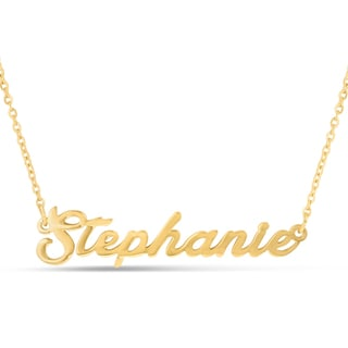 18k Goldplated 'Stephanie' Nameplate Necklace