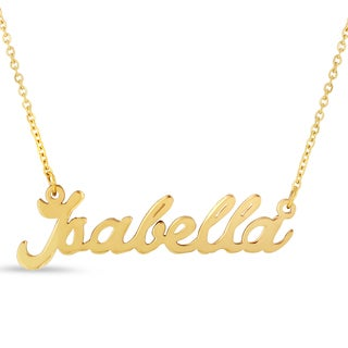 18k Goldplated 'Isabella' Nameplate Necklace