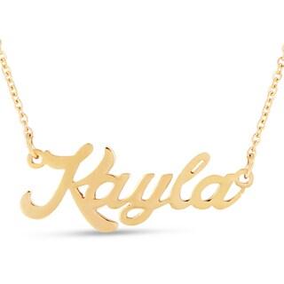 18k Goldplated 'Kayla' Nameplate Necklace