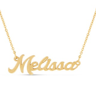 18k Goldplated 'Melissa' Nameplate Necklace