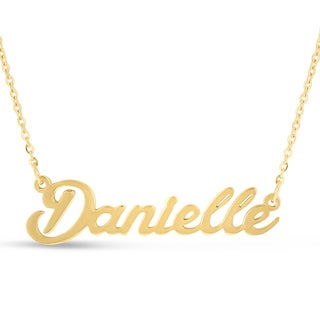 18k Goldplated 'Danielle' Nameplate Necklace