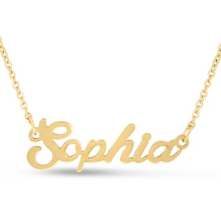 18k Goldplated 'Sophia' Nameplate Necklace
