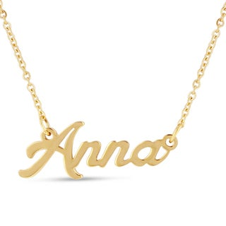 18k Goldplated 'Anna' Nameplate Necklace