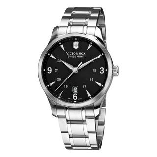 Swiss Army Men's V251473 'Alliance' Black Dial Stainless Steel Bracelet Swiss Quartz Watch