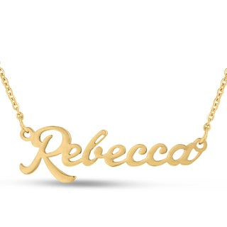 18k Goldplated 'Rebecca' Nameplate Necklace