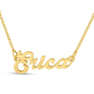 18k Goldplated 'Erica' Nameplate Necklace