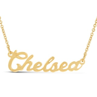18k Goldplated 'Chelsea' Nameplate Necklace