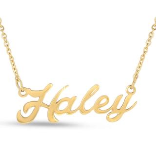 18k Goldplated 'Haley' Nameplate Necklace