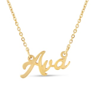 18k Goldplated 'Ava' Nameplate Necklace