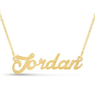 18k Goldplated 'Jordan' Nameplate Necklace
