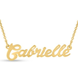 Gold Over Brass 'Gabrielle' Nameplate Necklace