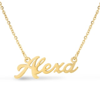 18k Goldplated 'Alexa' Nameplate Necklace