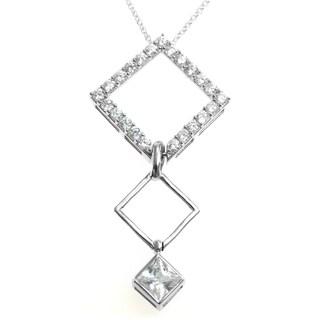 Michael Valitutti Silver Cubic Zirconia Changable Pendant
