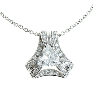Michael Valitutti Silver Cubic Zirconia Pendant