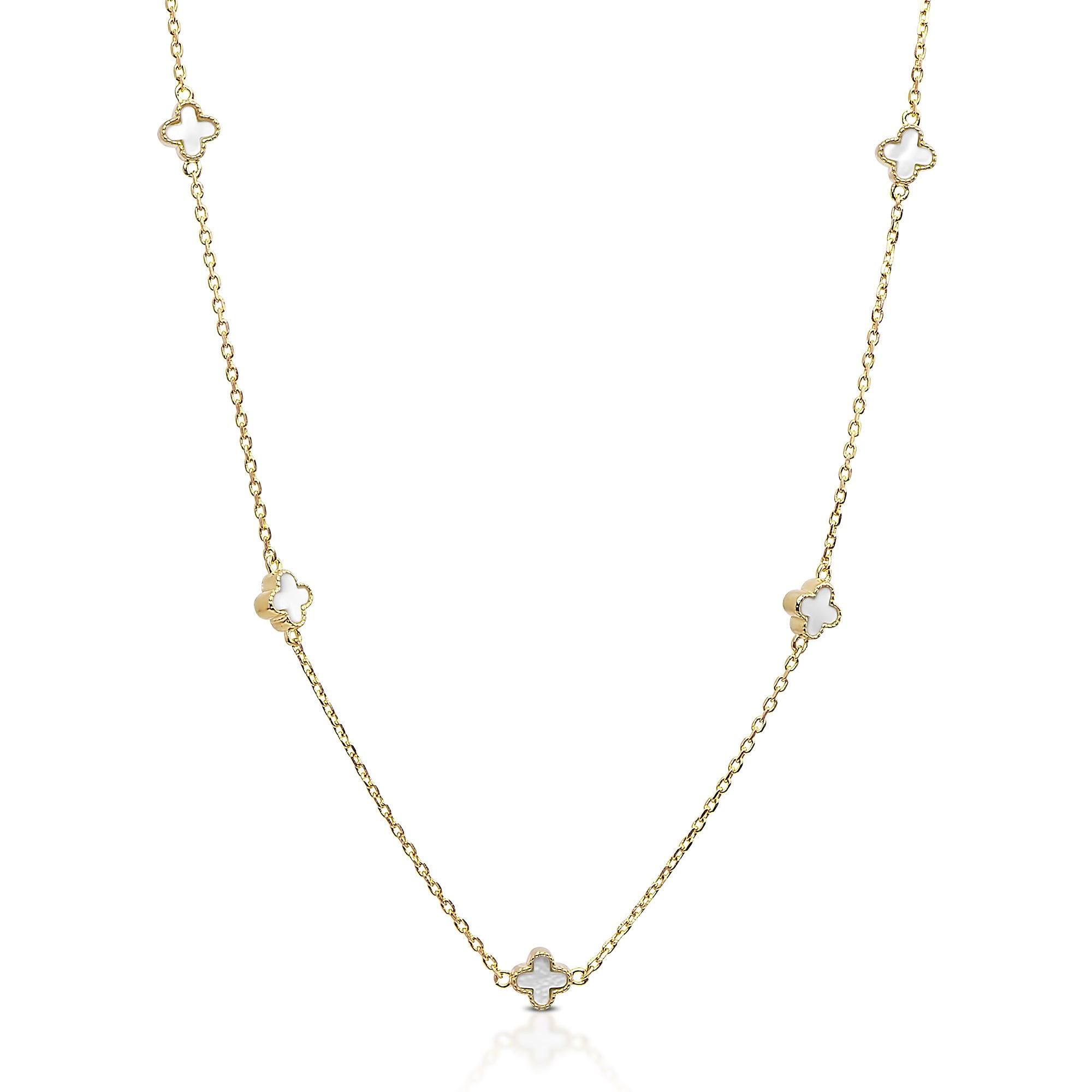 Shop Dolce Giavonna Gold Over Sterling Silver Mother Of Pearl