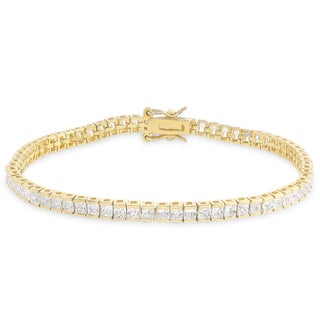 Dolce Giavonna Sterling Silver Cubic Zirconia Line Bracelet
