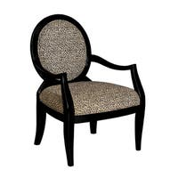 Powell Zinnia Leopard Oval Back Accent Chair