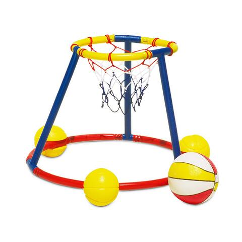 Poolmaster Hot Hoops Floating Basketball Game - Blue/Yellow