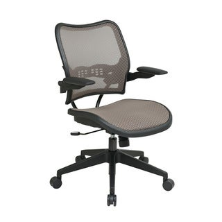 SPACE 13 Series Latte Air Grid Seat and Back, Ergonomic Adjustability, Padded Cantilever Arms, Nylon