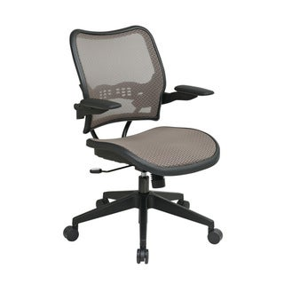 Deluxe Latte MeshSeat and Office Chair with Padded Cantilever Arms