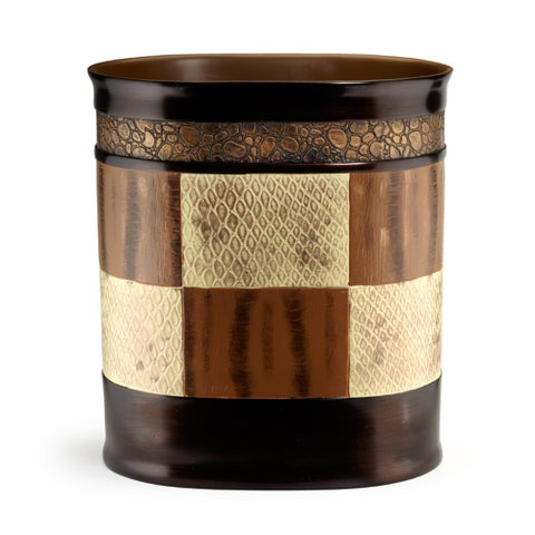 Animal Print Faux Leather Bath Accessory Collection