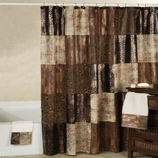 Black Shower Curtains For Less | Overstock - Vibrant Fabric Bath ...