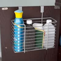 Powder-coated Steel Over-the-Cabinet Storage Basket