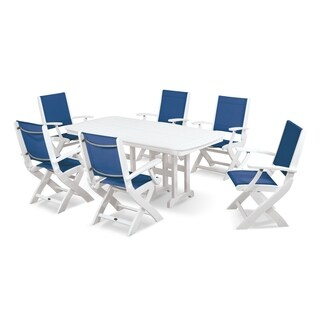 POLYWOOD Coastal 7-piece Outdoor Dining Set