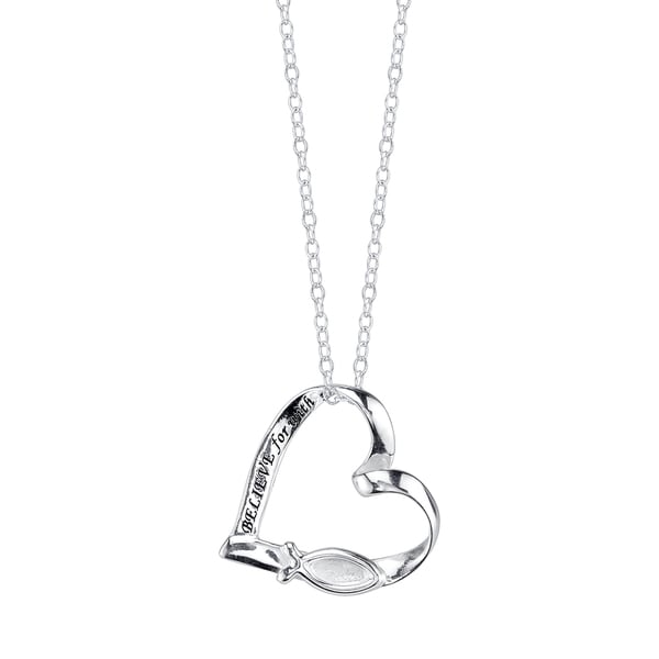Faith in God Necklace Charm Sterling Silver Chain Included
