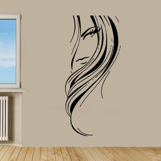 Beauty Salon Decor Woman face Sticker Vinyl Wall Art